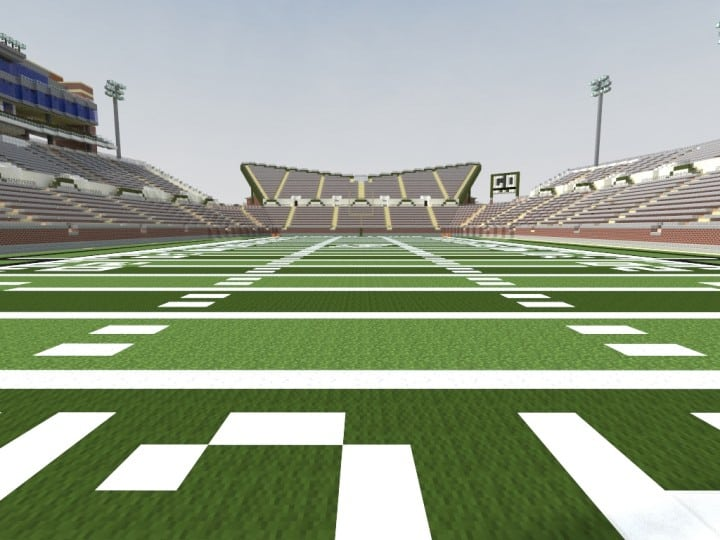 Apogee Stadium with Touchdown Rollercoaster minecraft building ideas download saves 13