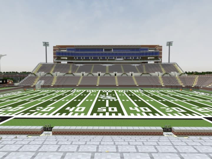 Apogee Stadium with Touchdown Rollercoaster minecraft building ideas download saves 17