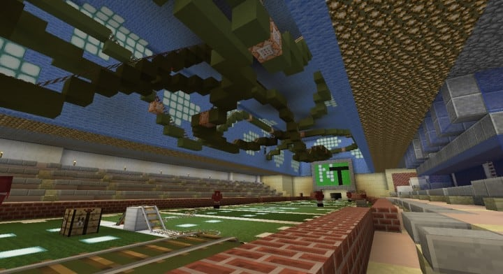 Apogee Stadium with Touchdown Rollercoaster minecraft building ideas download saves 19