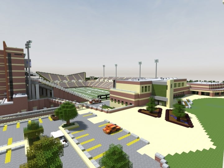 Apogee Stadium with Touchdown Rollercoaster minecraft building ideas download saves 9