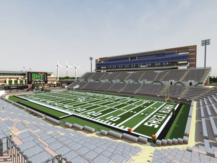 Apogee Stadium with Touchdown Rollercoaster minecraft building ideas download saves texas 4