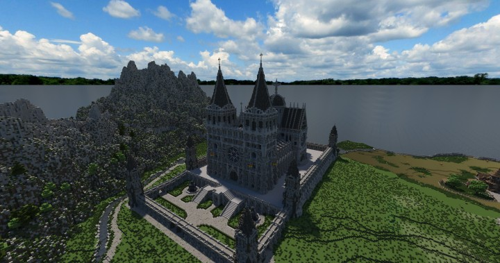 Cathedral of Keddis minecraft castle wall lake mountain download building ideas cementery medieval 2