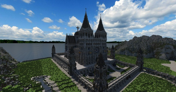 Cathedral of Keddis minecraft castle wall lake mountain download building ideas cementery medieval 3
