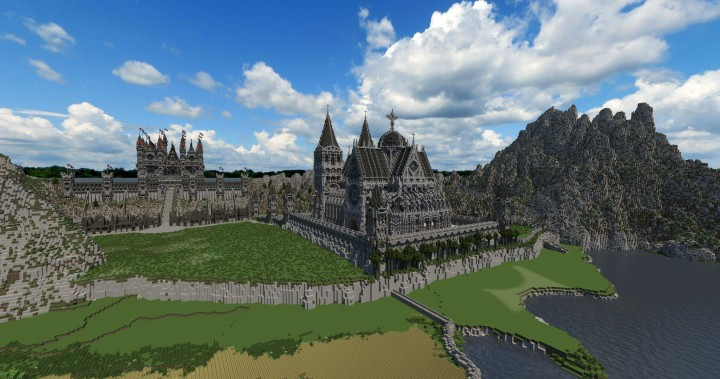 Cathedral of Keddis minecraft castle wall lake mountain download building ideas cementery medieval 4