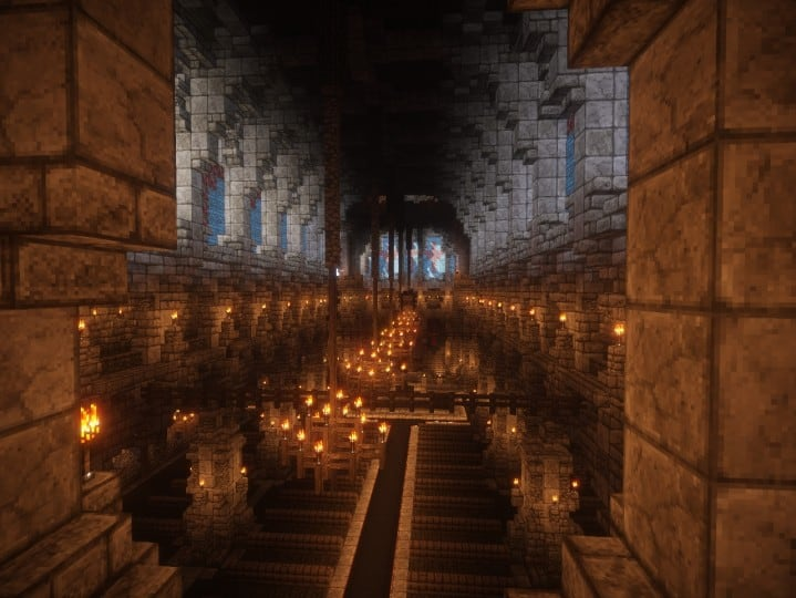 Cathedral of Keddis minecraft castle wall lake mountain download building ideas cementery medieval 8
