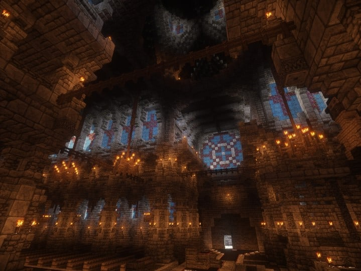 Cathedral of Keddis minecraft castle wall lake mountain download building ideas cementery medieval 9