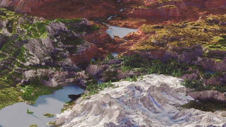 Custom Biome terrain map 4kx4k world painter world machine download minecraft 3