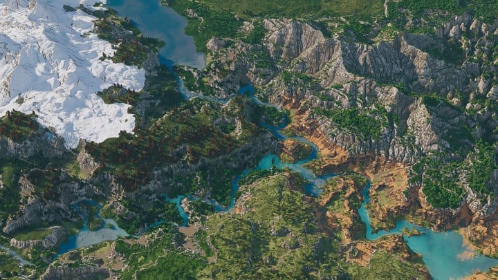 Custom Biome terrain map 4kx4k world painter world machine download minecraft 4