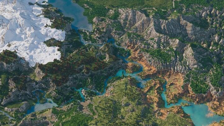 Custom Biome terrain map 4kx4k world painter world machine download minecraft 4