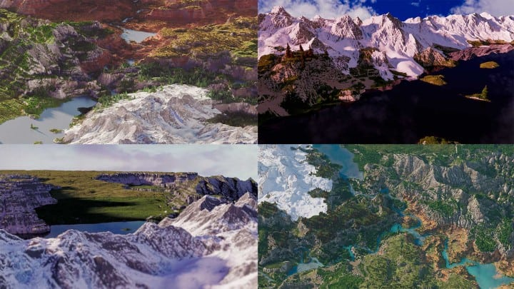 Custom Biome terrain map 4kx4k world painter world machine download minecraft