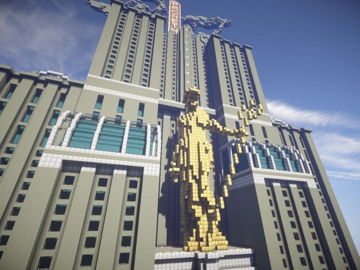Download Prometheus Deluxe minecraft building ideas schematic tower skyscraper statue 3
