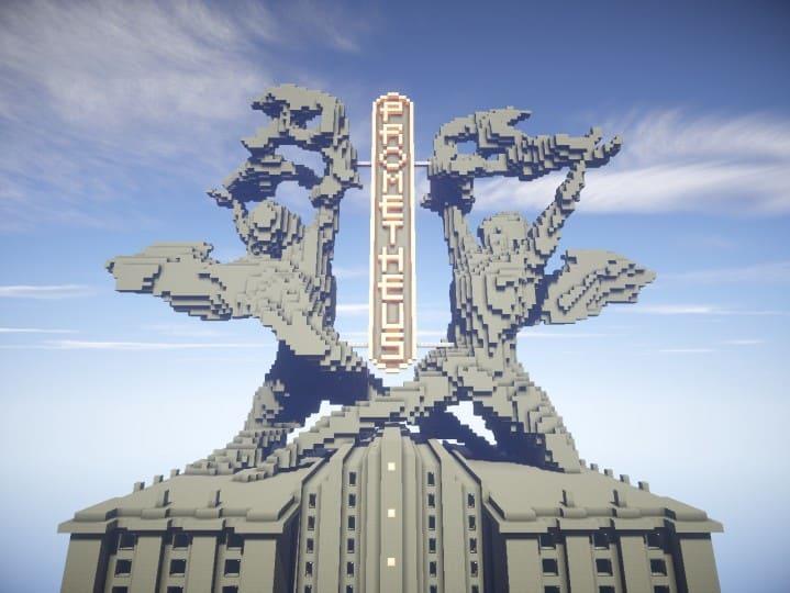 Download Prometheus Deluxe minecraft building ideas schematic tower skyscraper statue 4