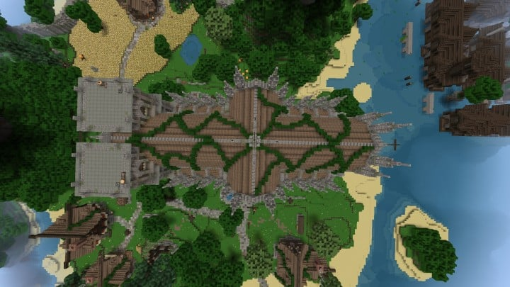 Excelsior Cathedral download foggy church castle minecraft build ideas 4
