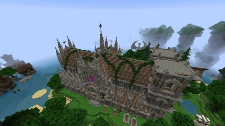 Excelsior Cathedral download foggy church castle minecraft build ideas 5