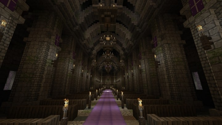Excelsior Cathedral download foggy church castle minecraft build ideas 6