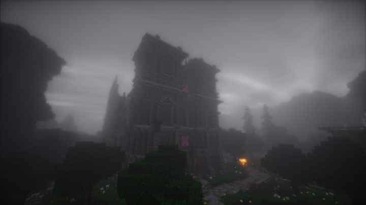 Excelsior Cathedral download foggy church castle minecraft build ideas