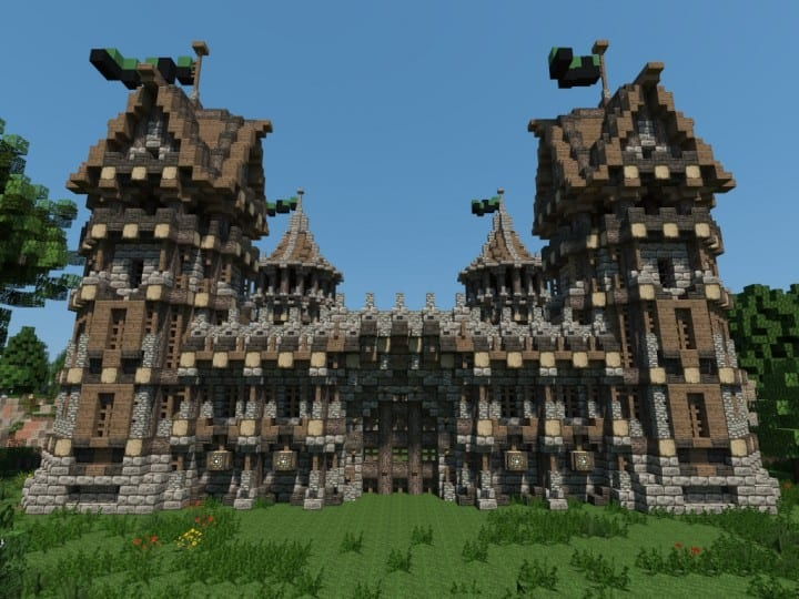 Medieval Fort Build your own Fort minecraft castle finish building ideas interior exterior 2
