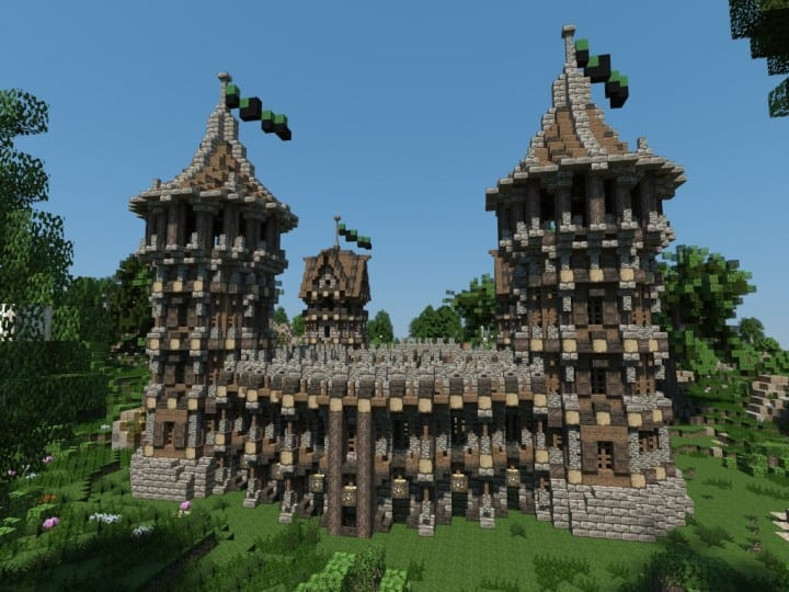 Medieval Fort Build your own Fort minecraft castle finish building ideas interior exterior 3