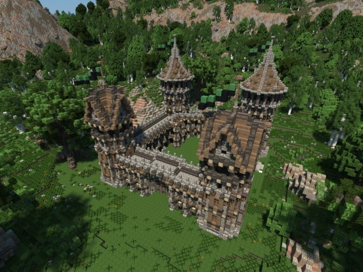 Medieval Fort Build your own Fort minecraft castle finish building ideas interior exterior 4