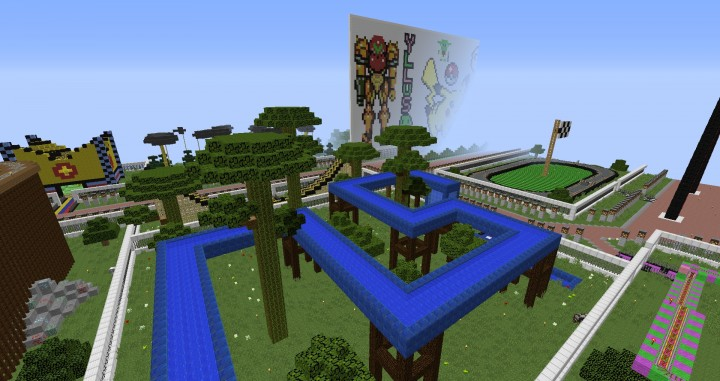 MinePark A Minecraft Theme Park building ideas fun download cool world 3