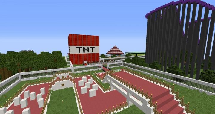 MinePark A Minecraft Theme Park building ideas fun download cool world 4