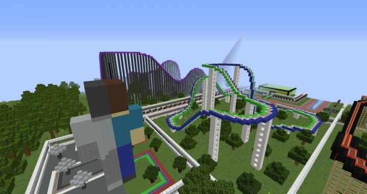 MinePark A Minecraft Theme Park building ideas fun download cool world