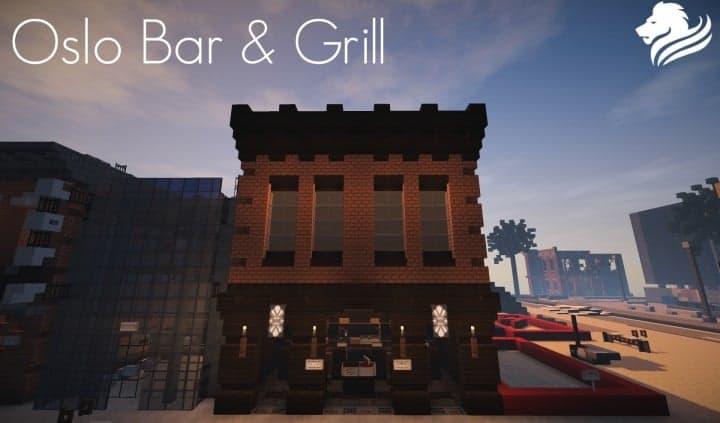 Oslo Bar & Grill Wok minecraft building ideas modern town