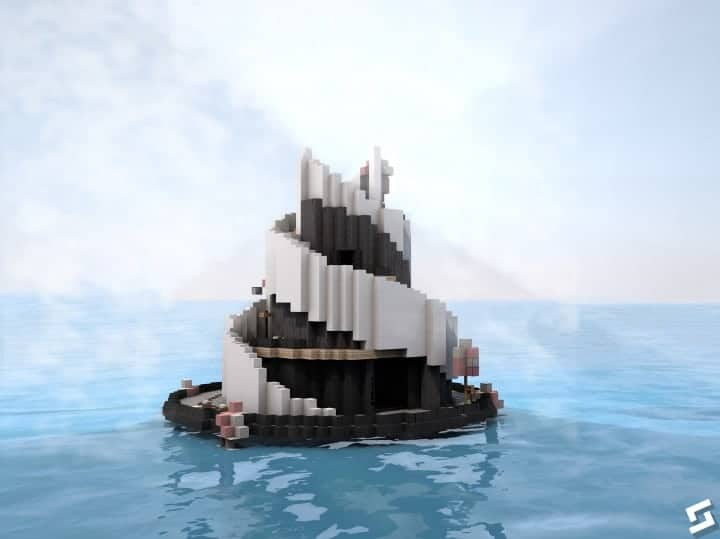Peaceful Cherry Valley minecraft inspiration download floating beautiful art 5