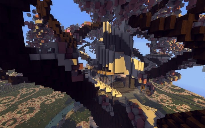 Peaceful Cherry Valley minecraft inspiration download floating beautiful art 6