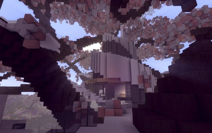 Peaceful Cherry Valley minecraft inspiration download floating beautiful art 8