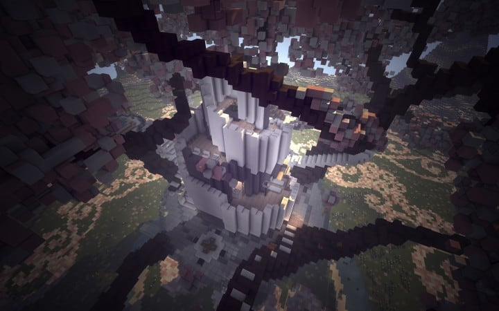 Peaceful Cherry Valley minecraft inspiration download floating beautiful art 9