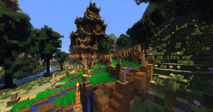 Shigeiwa-Akō village town download mountain city minecraft building ideas 6