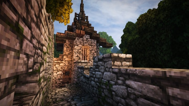 Stadtfelsen a medieval castle minecraft building ideas download mountains 12