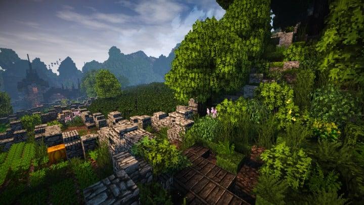 Stadtfelsen a medieval castle minecraft building ideas download mountains 13