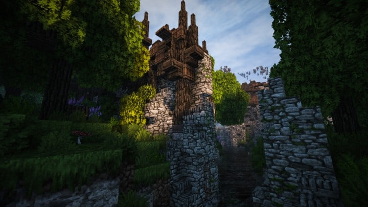 Stadtfelsen a medieval castle minecraft building ideas download mountains 14