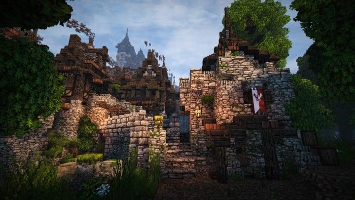Stadtfelsen a medieval castle minecraft building ideas download mountains10