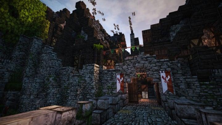 Stadtfelsen a medieval castle minecraft building ideas download mountains8