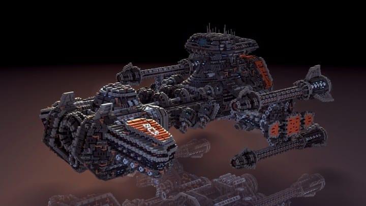 Starcraft 2 Minotaur Battlecruiser Minecraft building ideas space strategy game 3