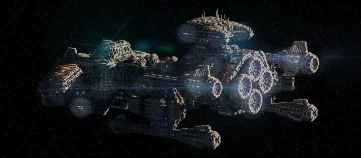 Starcraft 2 Minotaur Battlecruiser Minecraft building ideas space strategy game 5