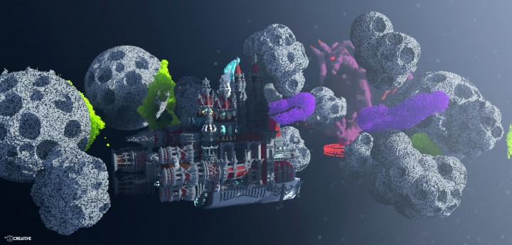 The Fear of Space Rendered Cinematic minecraft building ideas download city