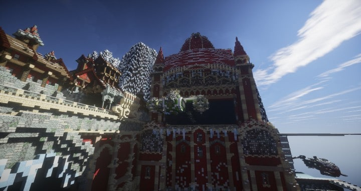 TheReawakens Days of Creations The Bridge City of Non Anor Minecraft building ideas download town snow winter tower 10