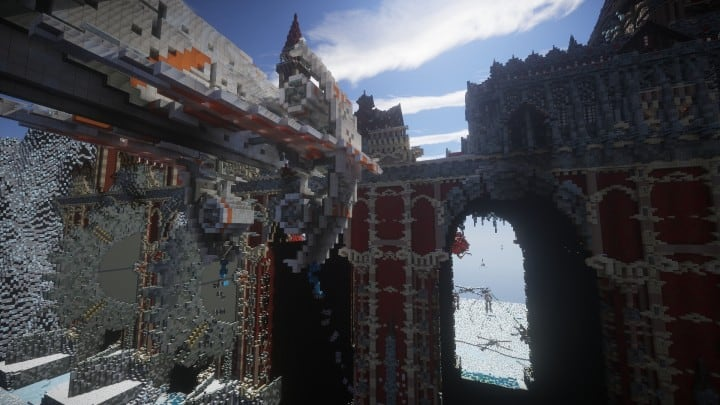 TheReawakens Days of Creations The Bridge City of Non Anor Minecraft building ideas download town snow winter tower 5