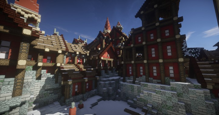 TheReawakens Days of Creations The Bridge City of Non Anor Minecraft building ideas download town snow winter tower 9