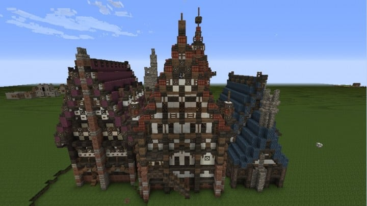 Three merovian houses minecraft building ideas download medieval 3