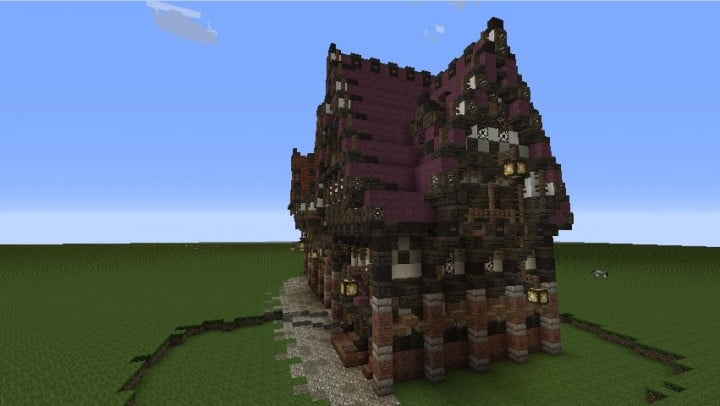 Three Merovian Houses Minecraft Building Inc