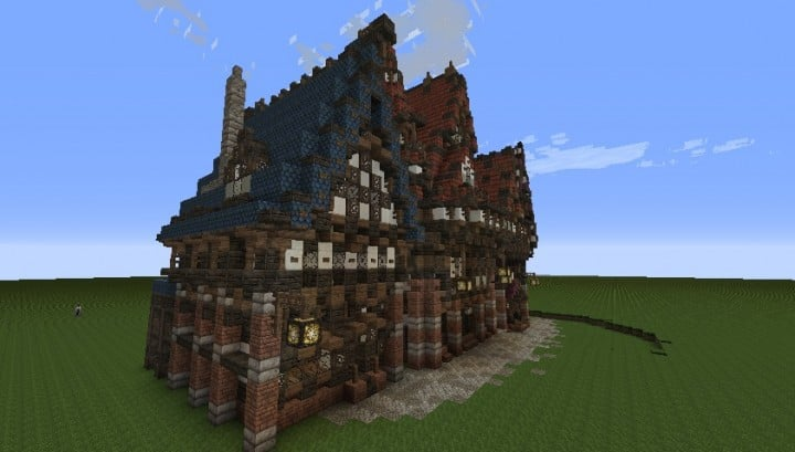 Three merovian houses minecraft building ideas download medieval 5