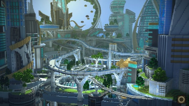 Tomorrowland disney minecraft gameplay city adventure theme park building ideas futuristic 2