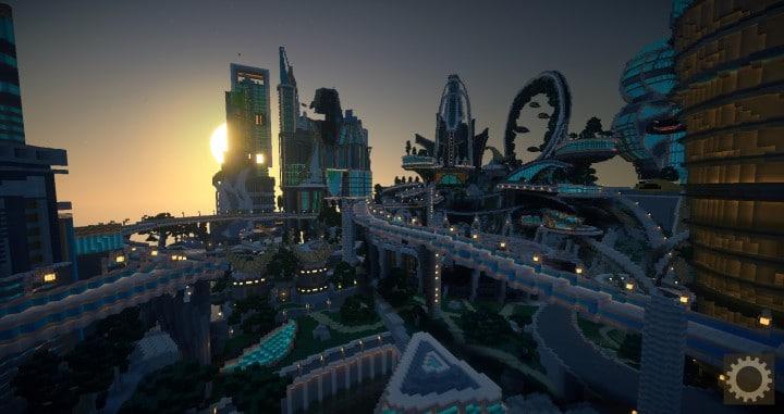 Tomorrowland disney minecraft gameplay city adventure theme park building ideas futuristic 7
