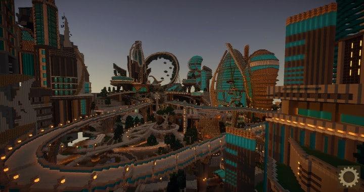 Tomorrowland disney minecraft gameplay city adventure theme park building ideas futuristic 8