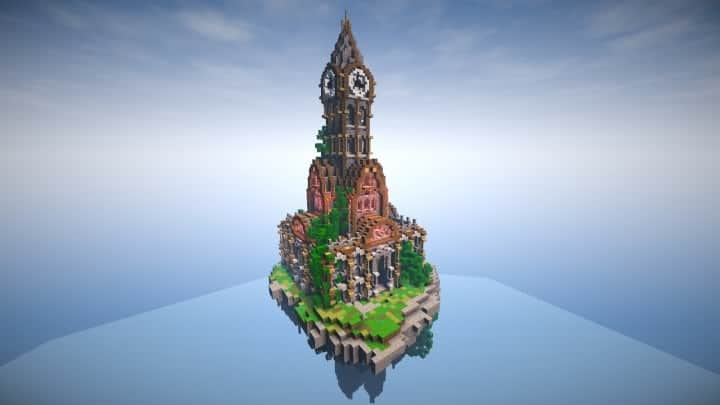 prof_artifex tower of time minecraft building ideas clock floating download 2